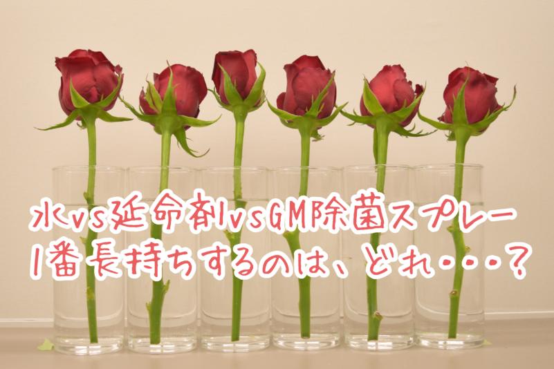 切り花(バラ)の寿命を長持ちさせる方法は延命剤だけじゃない…?