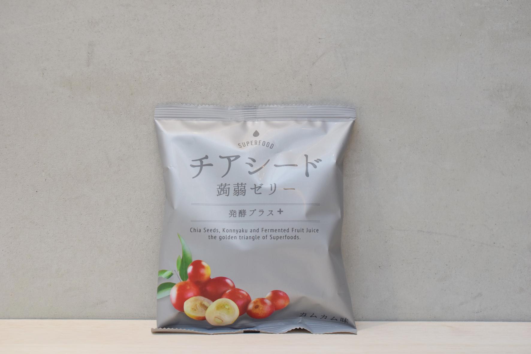 チアシード蒟蒻ゼリー発酵プラスカムカム味