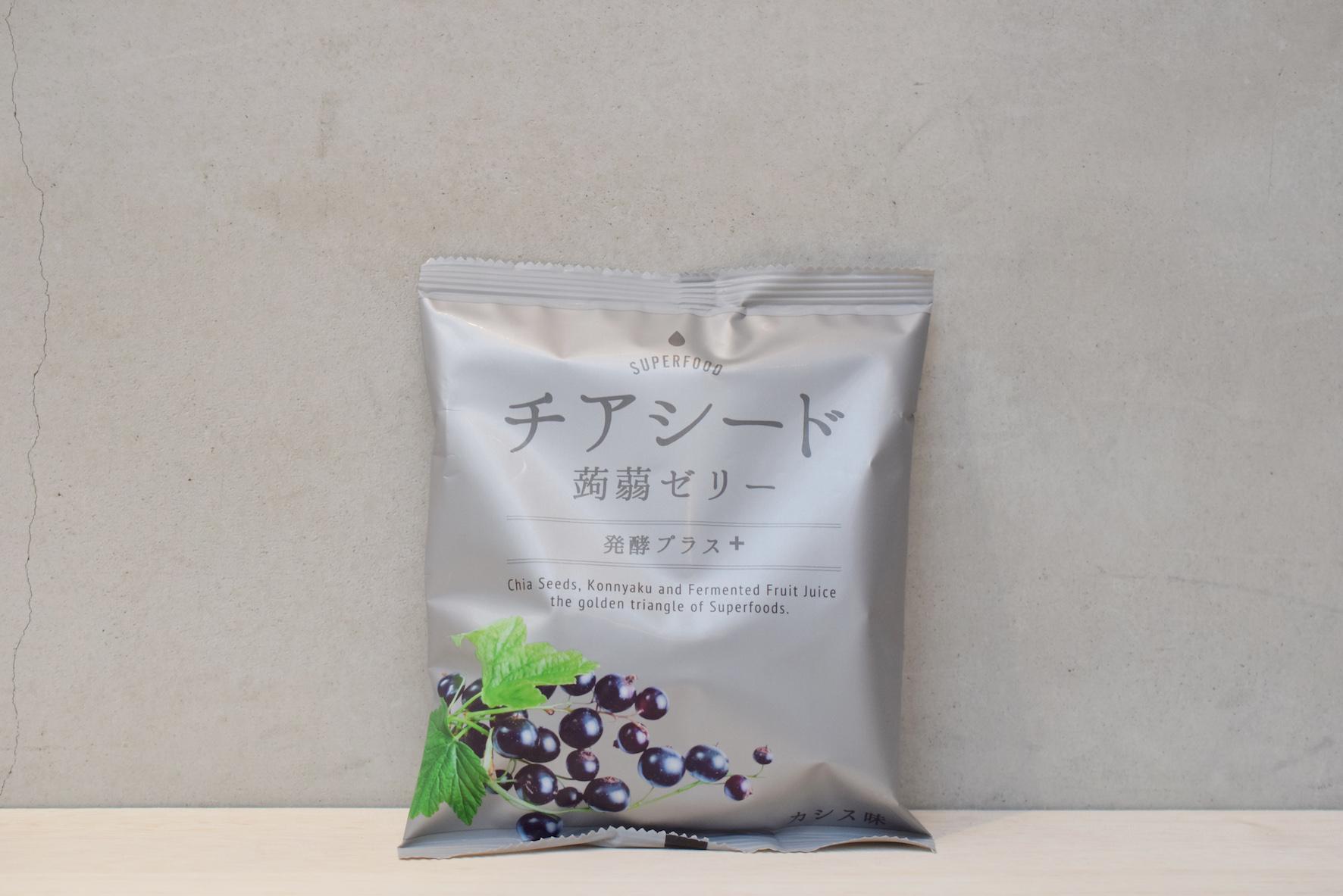 チアシード蒟蒻ゼリー発酵プラスカシス味