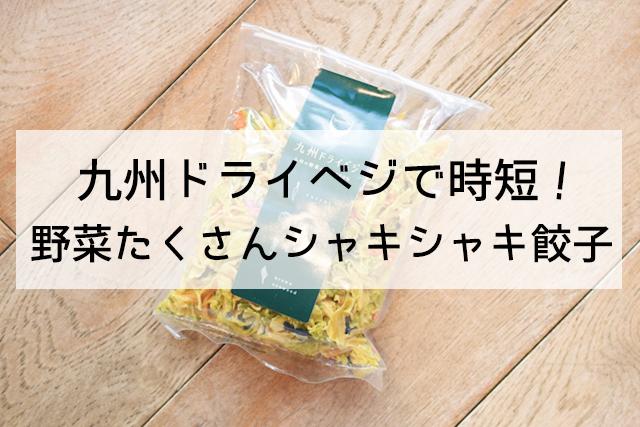 九州ドライベジで時短!簡単シャキシャキ餃子