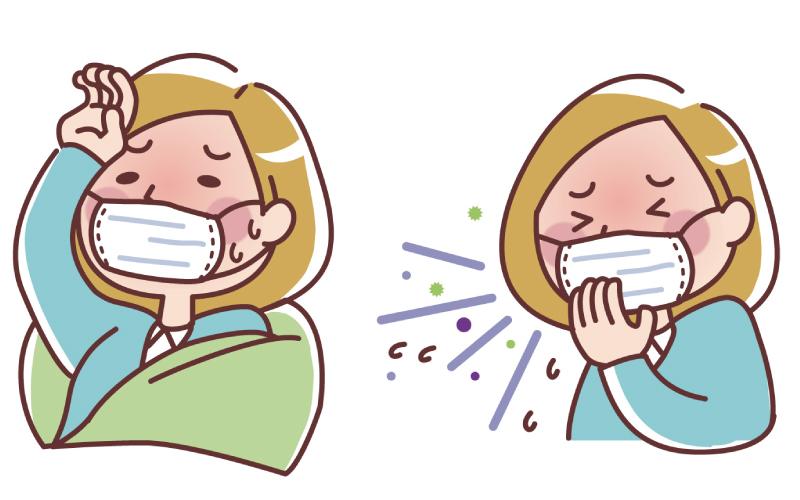 風邪の女性